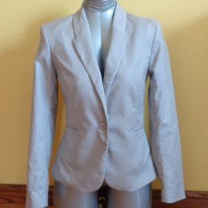 Katherine Barclay Cotton Spandex light grey blazer